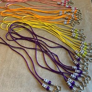 Homemade Mask lanyards
